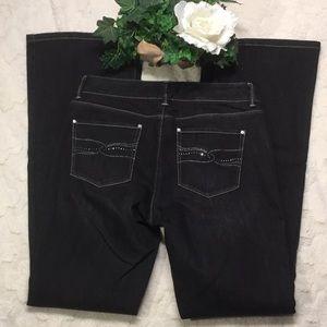 GUC WHBM Black Denim Rhinestone Flare Jeans, 4R